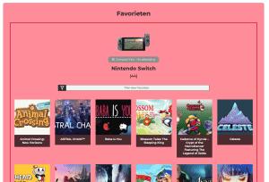 Nintendo Collectie Systeem - Favorieten